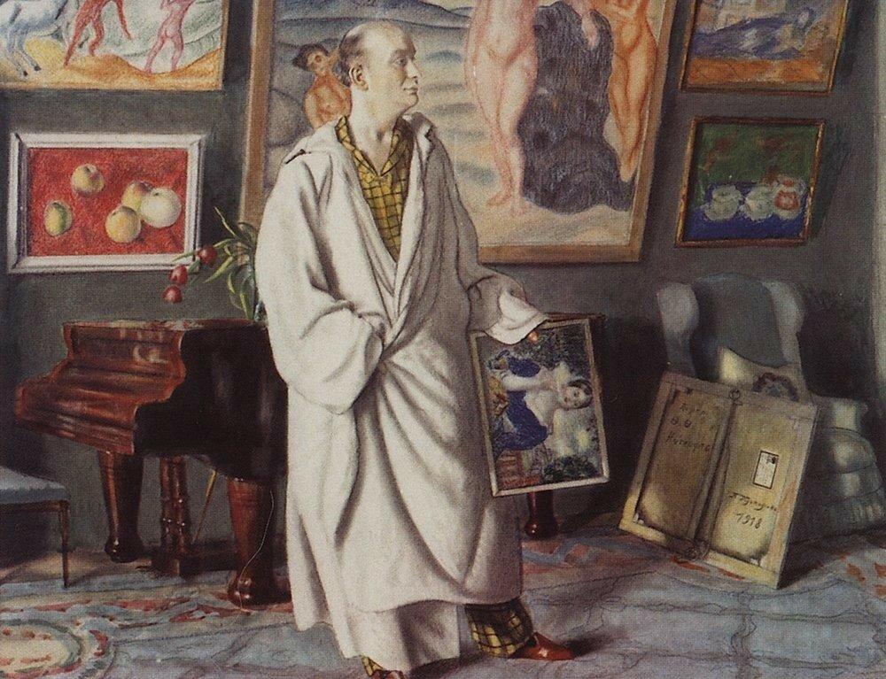 Б.М. Кустодиев. Портрет Ф.Ф. Нотгафта (Коллекционер). Искусство Евразии, журнал об искусстве