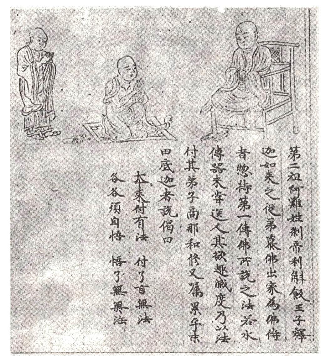 Ананда. Изображение в свитке 1154 г. Искусство Евразии, журнал об искусстве