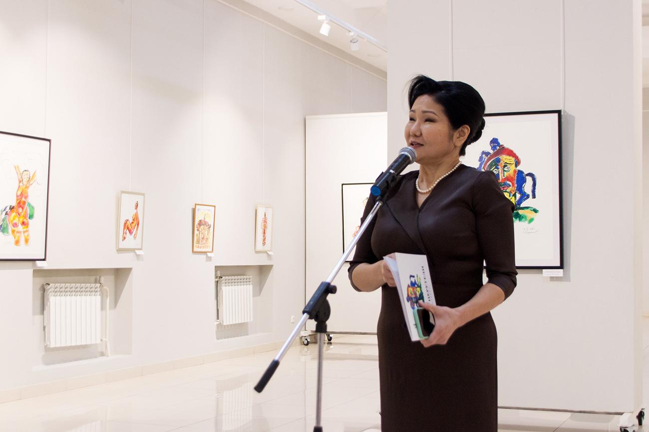 Т.А. Бороноева. Выставка графики З.К. Церетели в Улан-Удэ