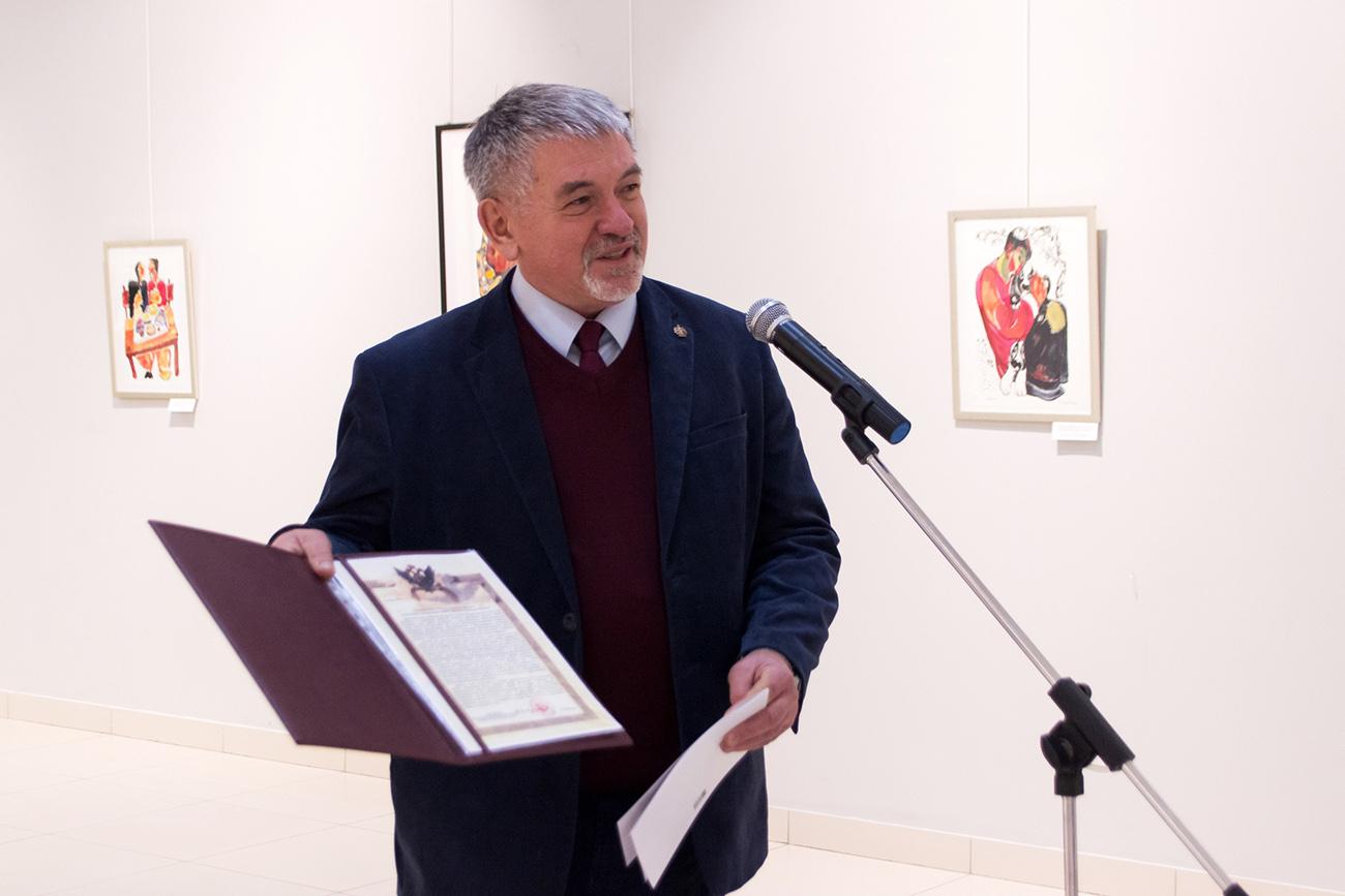 М.Ю. Шишин. Выставка графики З.К. Церетели в Улан-Удэ